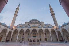 Sleymaniye Mosque (decafeined) Tags: istanbul travel mosque cami suleymaniye turkey architecture wideangle uwa ultrawide symmetry symmetrical building tokina 1116mm