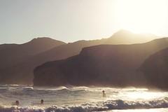 PLAYA DEL MNSUL (cristina or) Tags: playadelmonsul cabodegata almeria contraluz backlighting atardecer sunset