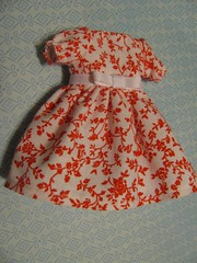 Brand New Blythe Dress, Red and White!