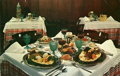 Kolb's Four Specials New Orleans LA (Edge and corner wear) Tags: food vintage cuisine restaurant pc all you postcard can eat chrome dining leisure buffet abundance carefree smorgasbord