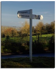 Signpost (lovestruck.) Tags: uk autumn england countryside fields signpost wiltshire seend seendcleeve