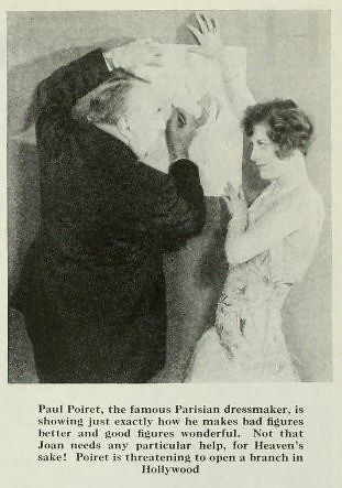 Joan Crawford with Paul Poiret 1929