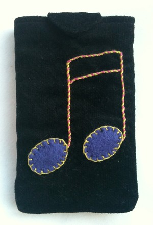 Embroidered iPod cozy
