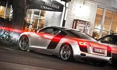 Audi R8     *EXPLORED* (hsvfan-jan) Tags: auto car nightshot audi norderstedt spotting r8 carspotting spott explored worldcars autospotting hsvfanjan