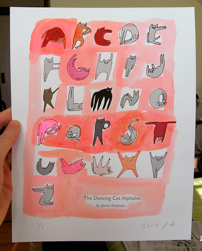 Cat Alphabet- Hand painted