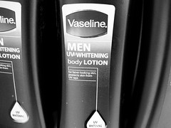 yes, men need whitening lotion, too.