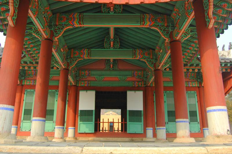 Taereung, one of the Joseon-Dynasty royal tombs located within Seoul, Korea. Taken by Chris Backe