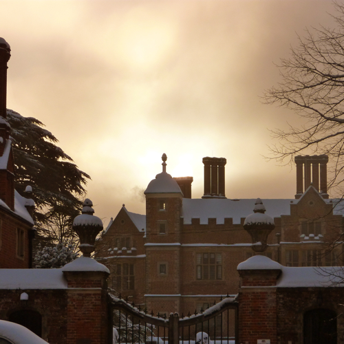 Chilham in the snow ~ village castle