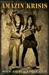 Amazin krisis - Heavy Poster (Moira_Fee) Tags: girls cute art beauty metal poster women ak rude skirt camo chicas moira heavy mujeres simons heidy fee kalashnikov claqueta amazin krisis spernatz