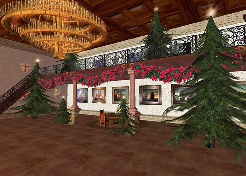 Decorating the Castle for the Christmas Ball