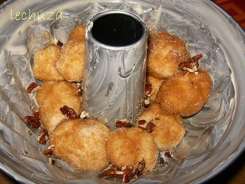 Monkey bread-llenar molde