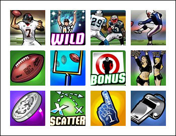 free $5 Million Touchdown slot game symbols
