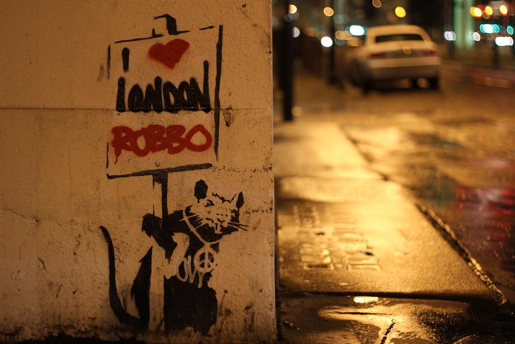 Banksy/ROBBO Rat -