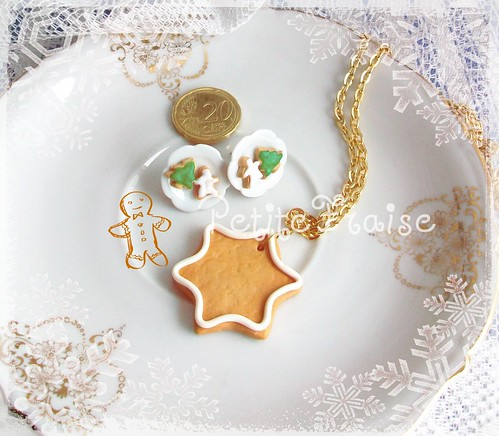 Christmas cookies jewelry set fimo polymer clay