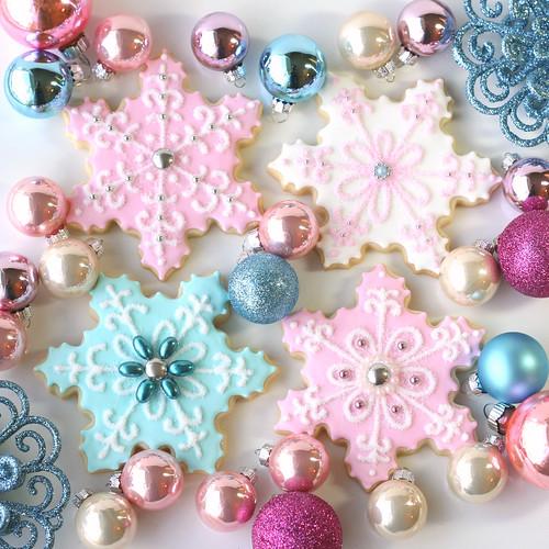 Vintage Pastel Snowflakes