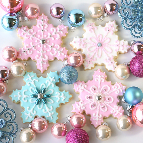 Vintage Pastel Snowflakes / Glorious Treats