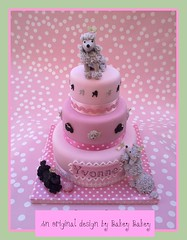 Tiered Poodle Celebration Cake (Bakey Bakey) Tags: birthday christmas cake holly celebration birthdaycake poodle dogshow toydog crufts