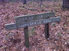 Trails End Loop and Old Jonesville Road Sign