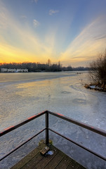 ^ v @ no.2 (gobayode photography...times) Tags: sunset sky lake nature water landscape manchester pier wintersunset chorlton winterpictures fishingpier manchesteruk icylake chorltonwaterpark icywater woodenpier naturecolours lakepier chorltonmanchester innercityparks