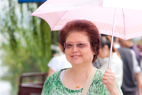 Mom with umbrella