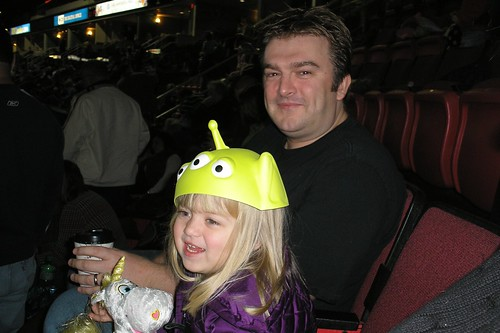 Dave & Catie, wearing her alien hat