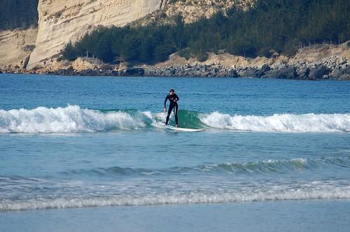 Fia surfing in Kakanui