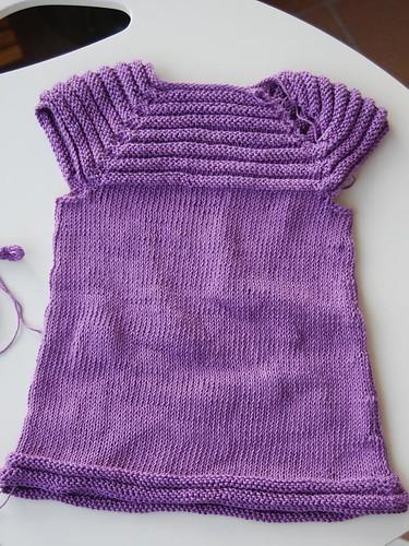 patrón tejer vestido bebé