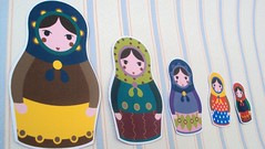 matrioshki, fridge magnet, autumn gamma (vertuta) Tags: doll colours etsy russian magnet nesting frindge matrioshla