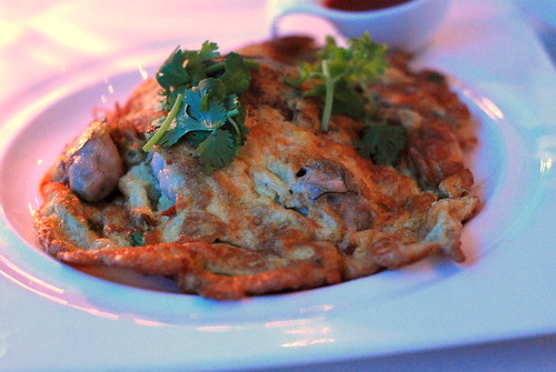 Fried Omelet with Oysters