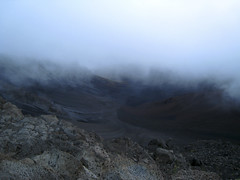 Clouds rolling in over Haleakala