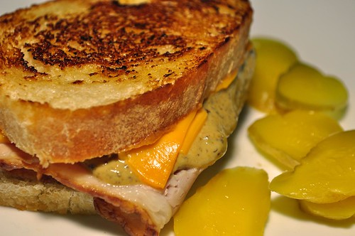 Mmm...grilled sourdough ham and cheese