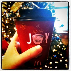 Xmas joy... Surprised at how good McD's mochas are!