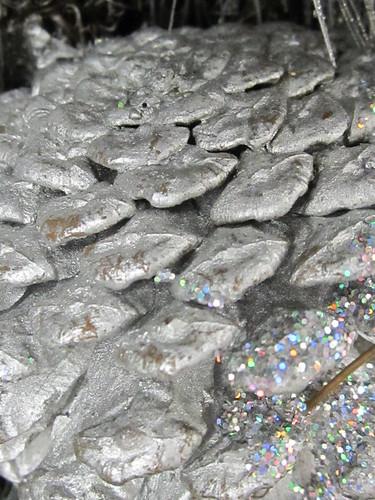 Silver Glittery Acorn
