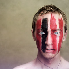 Animal I Am, I'm Looking For An Answer Just Like You (Boy_Wonder) Tags: red black paint coldplay joel facepaint 365icon selfiesquared mfimc 365icon762