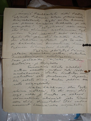 Letter from Arvi Mäenpää to Frithiof Tikanoja