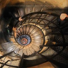 "[Explore] ""Nautilus"" Stairs To The Arch of Triumph ~ Paris // France ~ (Yannick Lefevre) Tags: paris france stairs photoshop hands nikon raw nef ghost perspective ps fisheye nikkor arcdetriomphe iledefrance gettyimages nautilus d300 nikoncapturenx 105mmdx capturenx2 yannicklefevre  photography"