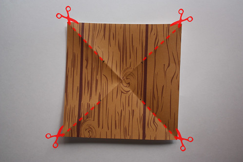 Step 5: Cut Along the Fold Lines to the Mark