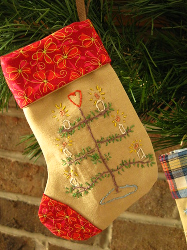 mini embroidered stockings