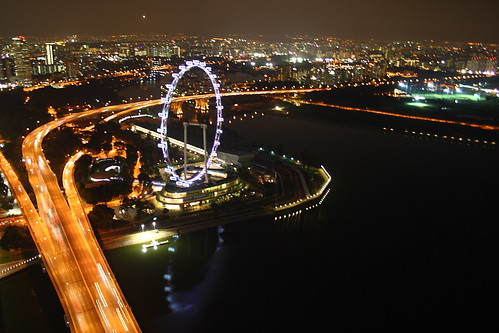 Marina Bay Sands - Night scene from Sky Park