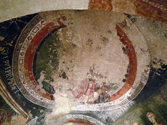 Circle of the Master of Pedret, Mother and Child Enthroned (ceiling)
