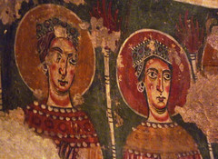 "Circle of the Master of Pedret, The Wise and Foolish Virgins (left detail ""wise"")"