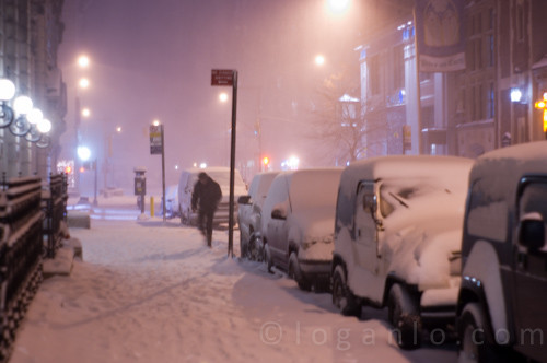 Snow storm in NYC