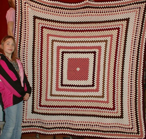 youngest with her afghan