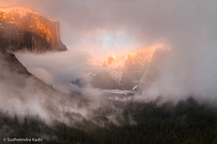 Clearing Snow Storm, yosemite National Park, CA (Sudheendra Kadri) Tags: california winter sunset sky mist snow nature northerncalifornia clouds dramatic yosemite halfdome yosemitenationalpark elcapitan yosemitevalley sudhi tunnelview landscapephotography clearingstorm sudheendrakadri