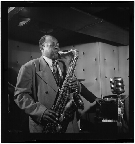 [Portrait of Coleman Hawkins and Miles Davis, Three Deuces, New York, N.Y., ca. July 1947] (LOC)