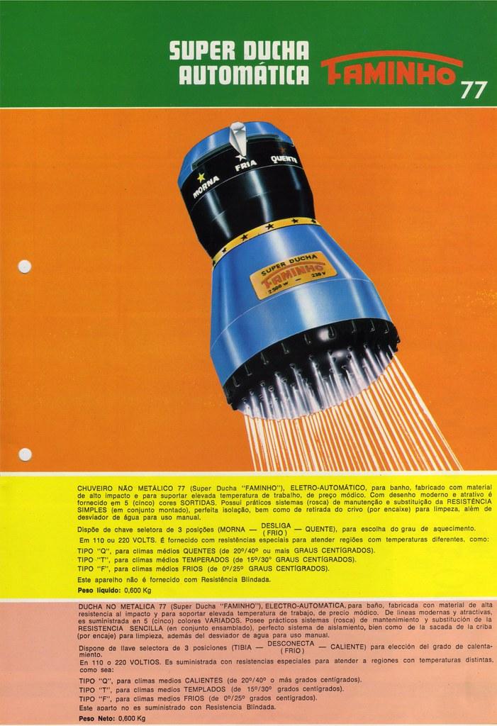 1977 ad - electric shower Super Ducha FAME