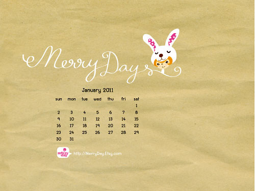 MerryDay January desktop wallpaper