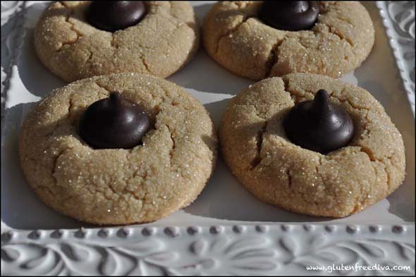 Gluten Free Peanut Butter Blossom Cookies Recipe