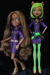 sasha & clawdeen (Laila X) Tags: party monster high wolf doll dolls sasha bratz dotd clawdeen dawnofthedance