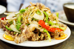 salt baked shredded squid with cashew nuts